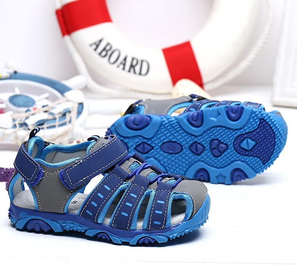 EDTO Children Kids Shoes Boy Girl Closed Toe Summer Beach Soft-Soled Cool Sandals Shoes Sneakers
