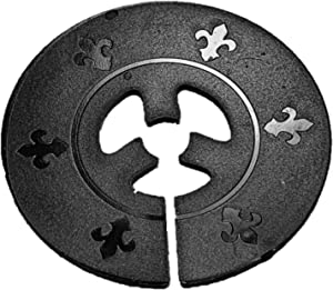 FLAG COASTER Garden Flag Stopper - Weather-Resistant, Decorative Holder and Accessory for Outdoor Garden Flag Poles - Keeps Flags from Flying Off in Windy Weather - Circular Design (Black)