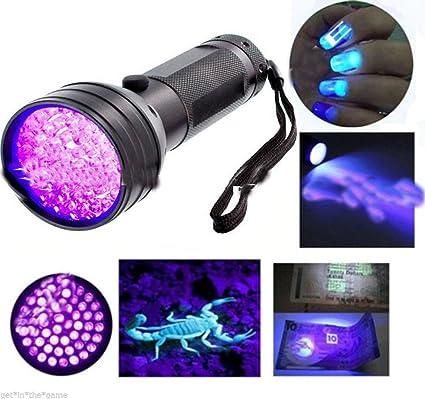 Mini Ultra Violet LED Flashlight Blacklight Light 395nm Inspection Lamp Torch