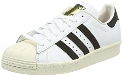 newest e0c54 1f62f adidas Superstar 80s, Chaussures de Gymnastique Homme, Blanc  (WhiteBlackChalk