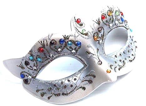 vari stili professionale aspetto dettagliato Argento veneziano Mascherata Maschera di Carnevale con i ...