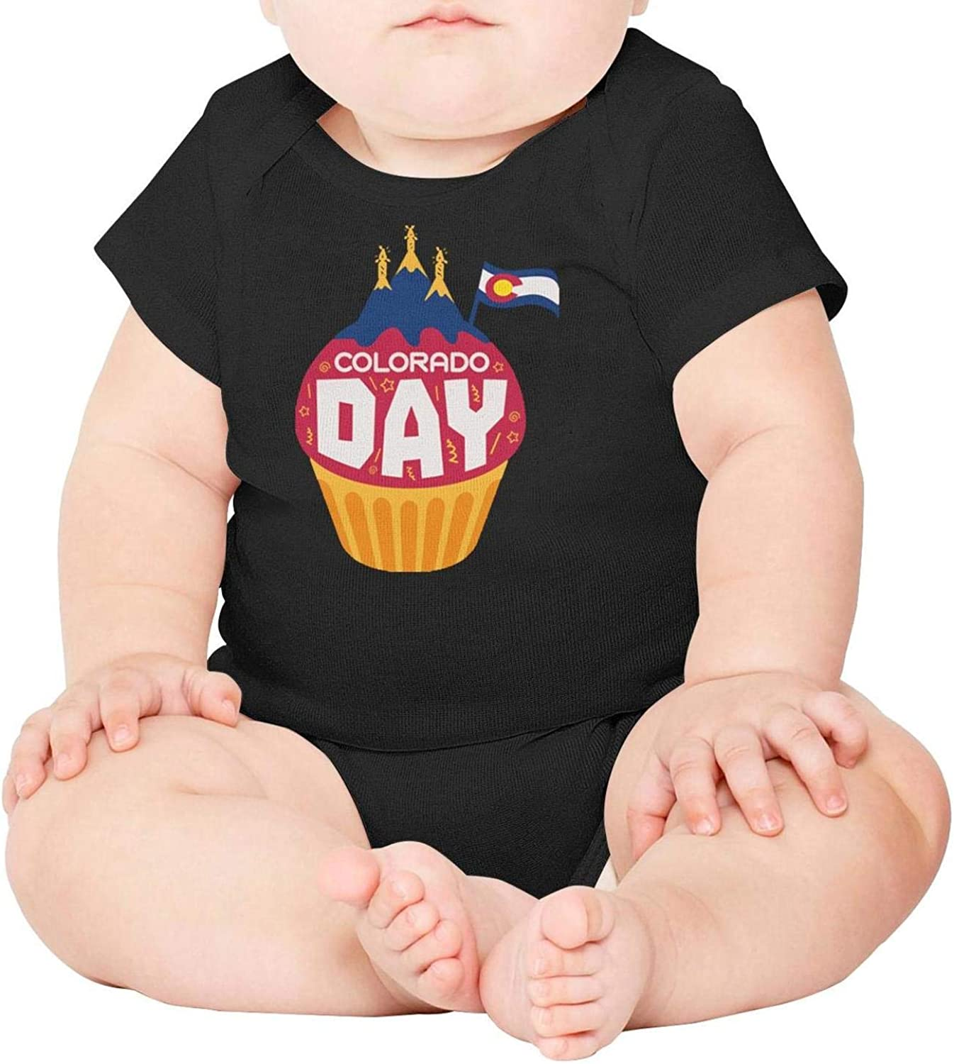 Baby Onesies Celebrate Colorado Day 100/% Cotton Newborn Baby Clothes Cute Short Sleeve Bodysuit