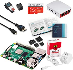 Vilros Raspberry Pi 4 Complete Starter Kit with Official Case (Red/White) (2GB)