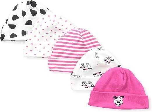 Gerber Baby Girls 5-Pack Caps