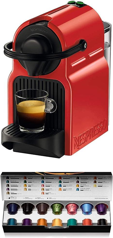 Nespresso Krups Inissia XN1005 - Cafetera monodosis de cápsulas Nespresso, 19 bares, apagado automático, color rojo (Reacondicionado): Amazon.es: Hogar