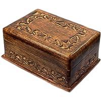 Budawi Träpusselbox, låda, trälåda med hemlig trick att öppna