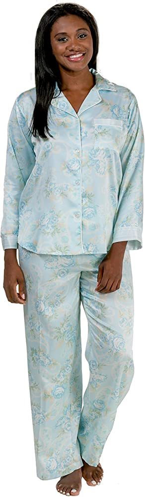 Details about  /Miss Elaine Brushed-Back Satin Pajama Top
