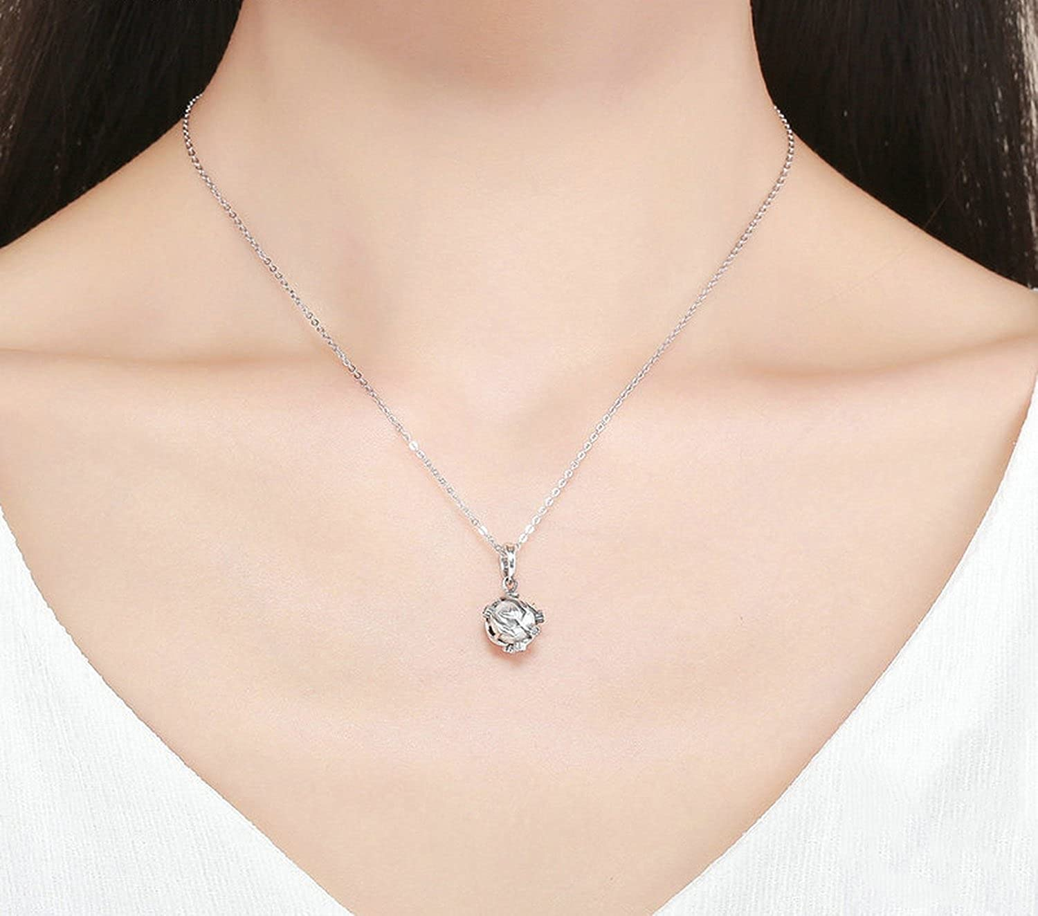 CS-DB Jewelry Silver Dazzling Vines Leaves Chain Charm Pendants Necklaces