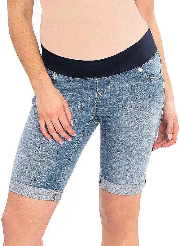 Great Expectations Womens Maternity Denim Bermuda Shorts