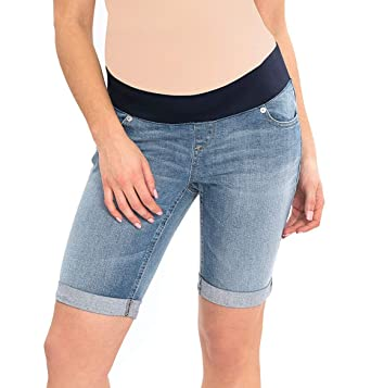 88b94b0dd0c493 Great Expectations Womens Maternity Denim Bermuda Shorts at Amazon Women's  Clothing store: