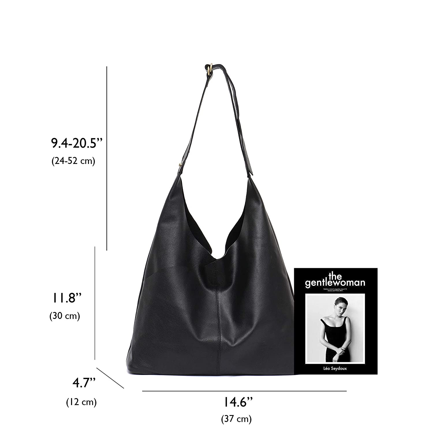 355f42ae998d Amazon.com  Genuine Leather Women s Shoulder Bag STEPHIECATH Large Casual  Soft Real Leather Skin Tote Vintage Snap Basket Carry Bag (BLACK)  Musical  ...