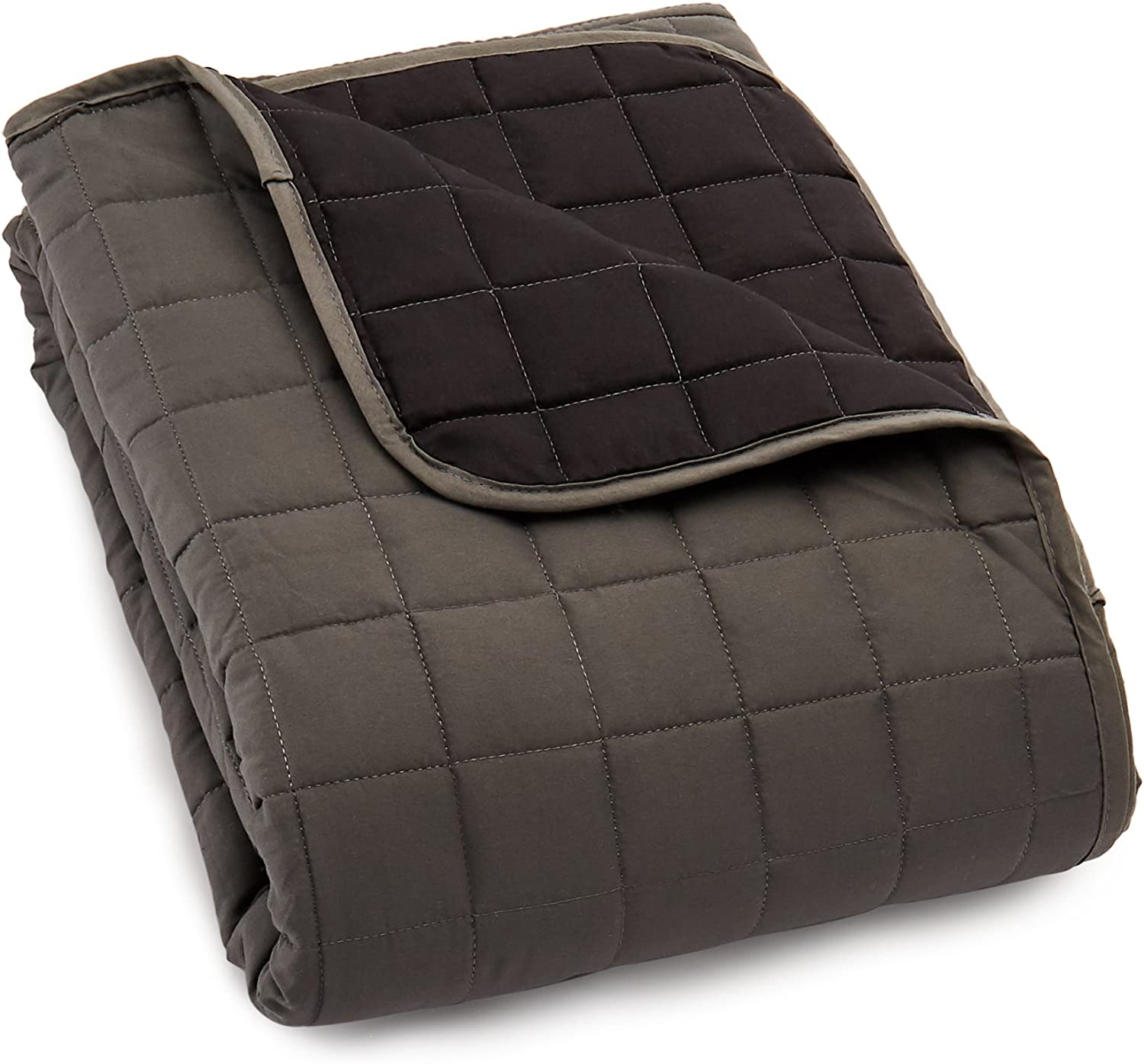 Elegance Linen Quilted Slip Cover Water-Absorbent Furniture Protector for Love Seat, Gray