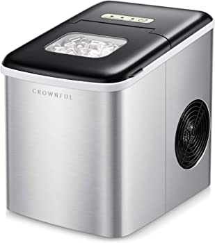 Crownful Ice Maker Machine for Countertop with Scoop and Basket