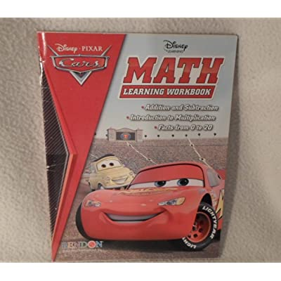 Cars Disney Pixar Math Learning Workbook: Disney: Toys & Games