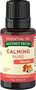 Nature's Truth Aromatherapy Calming 100% Pure Essential Oil, Citrus, 0.51 Fluid Ounce, Clear