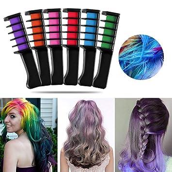 Amazon.com: Hair Chalk Comb Temporary Hair Color Dye Comb ...