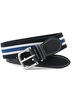 Stripe Surcingle Belt 118-13-1134: Navy