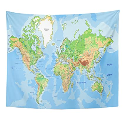 Amazon Com Tompop Tapestry Blue Detail Highly Detailed Physical