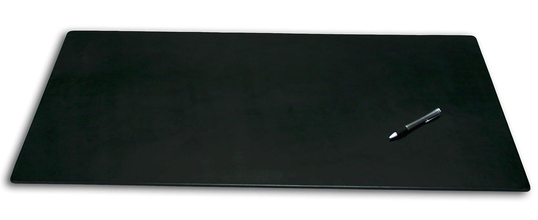 Dacasso Lederette Schreibtisch, Kunstleder, Schwarz, 96.52 x 60.96 x 0.64 cm