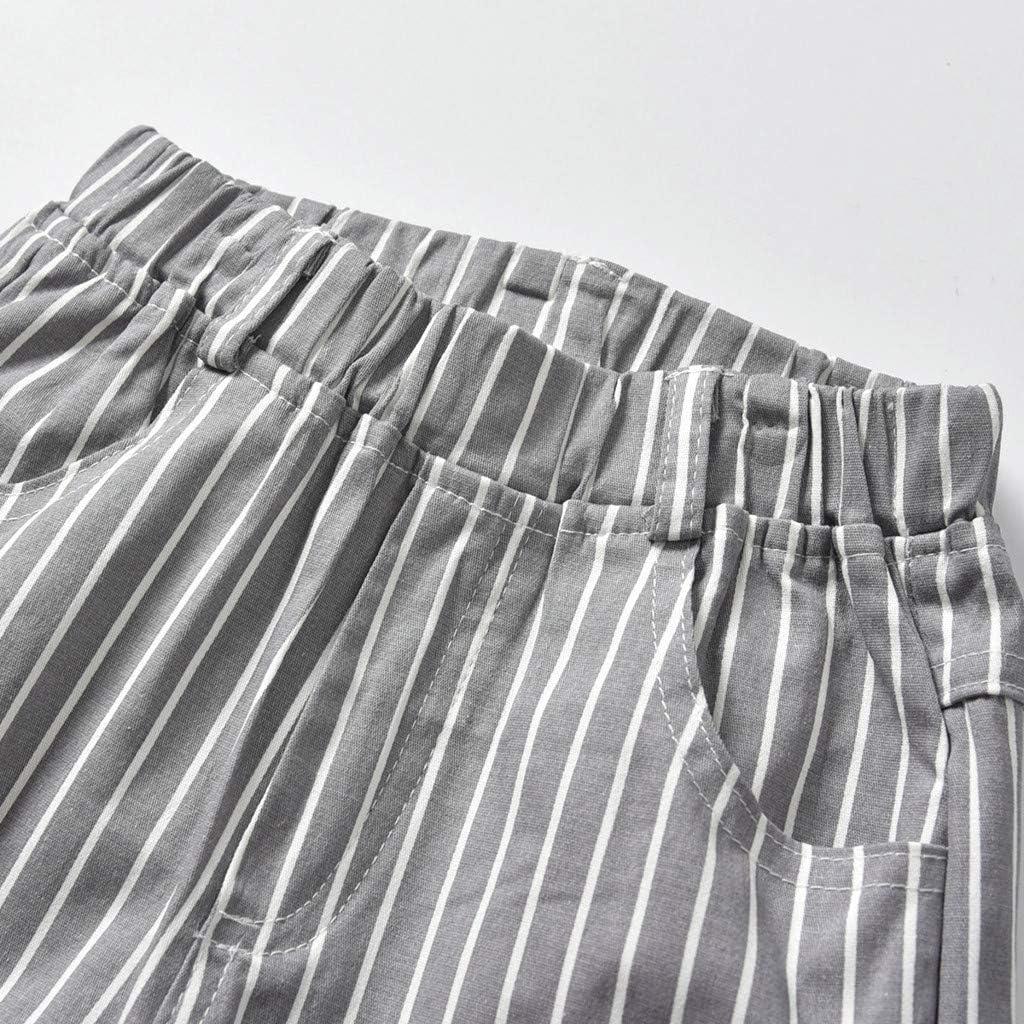 Sameno Kids Baby Boys Gentleman Set Bowtie Print Short Sleeve Shirt+Suspenders Shorts