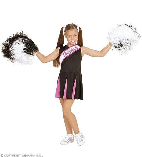 WIDMANN WDM02447 - Costume Per Bambini Cheerleader Nera Rosa (140 cm ... b41f188ad69