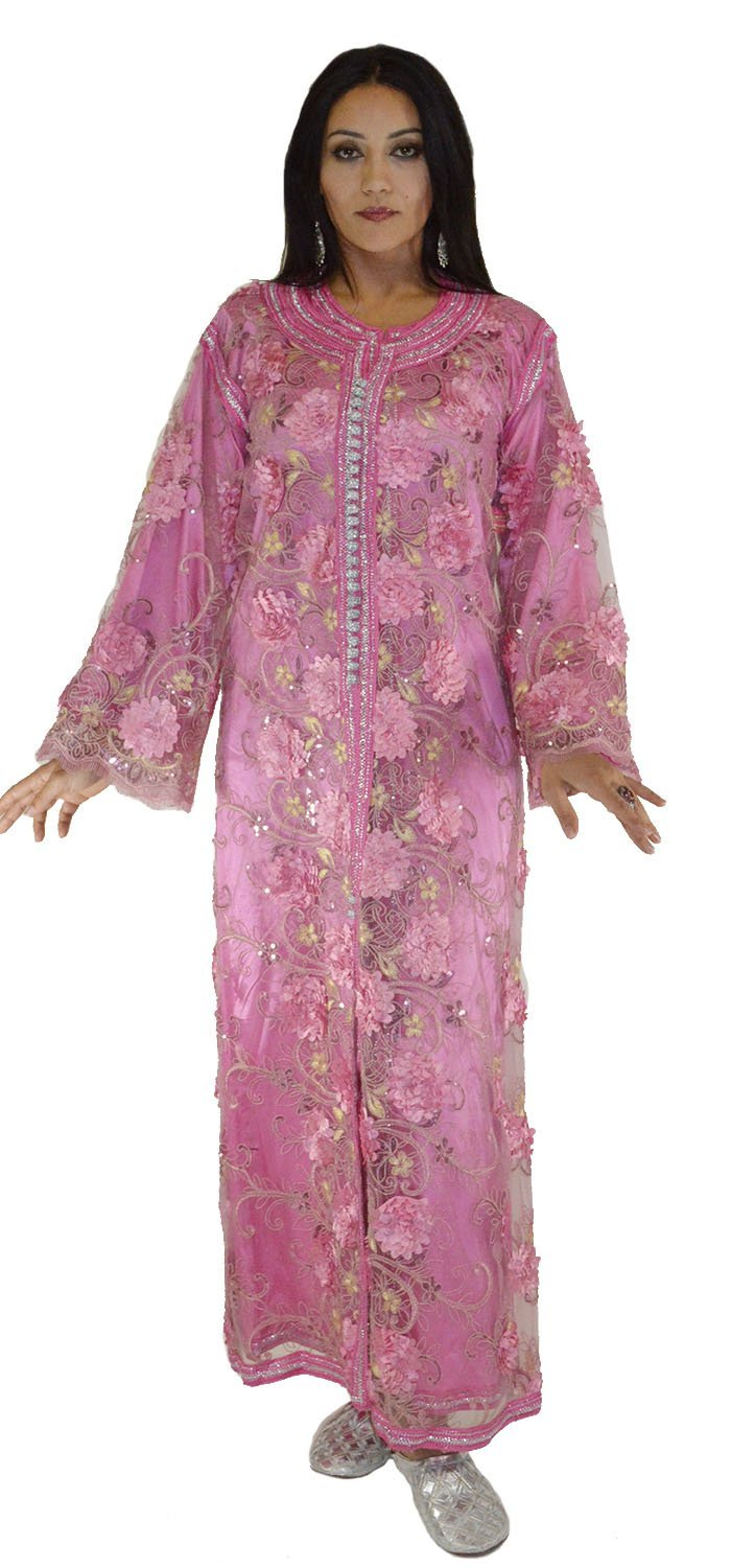 Moroccan Caftans Exquisite Wedding Gown Handmade 2 Pieces Embroidered Fits SMALL to LARGE