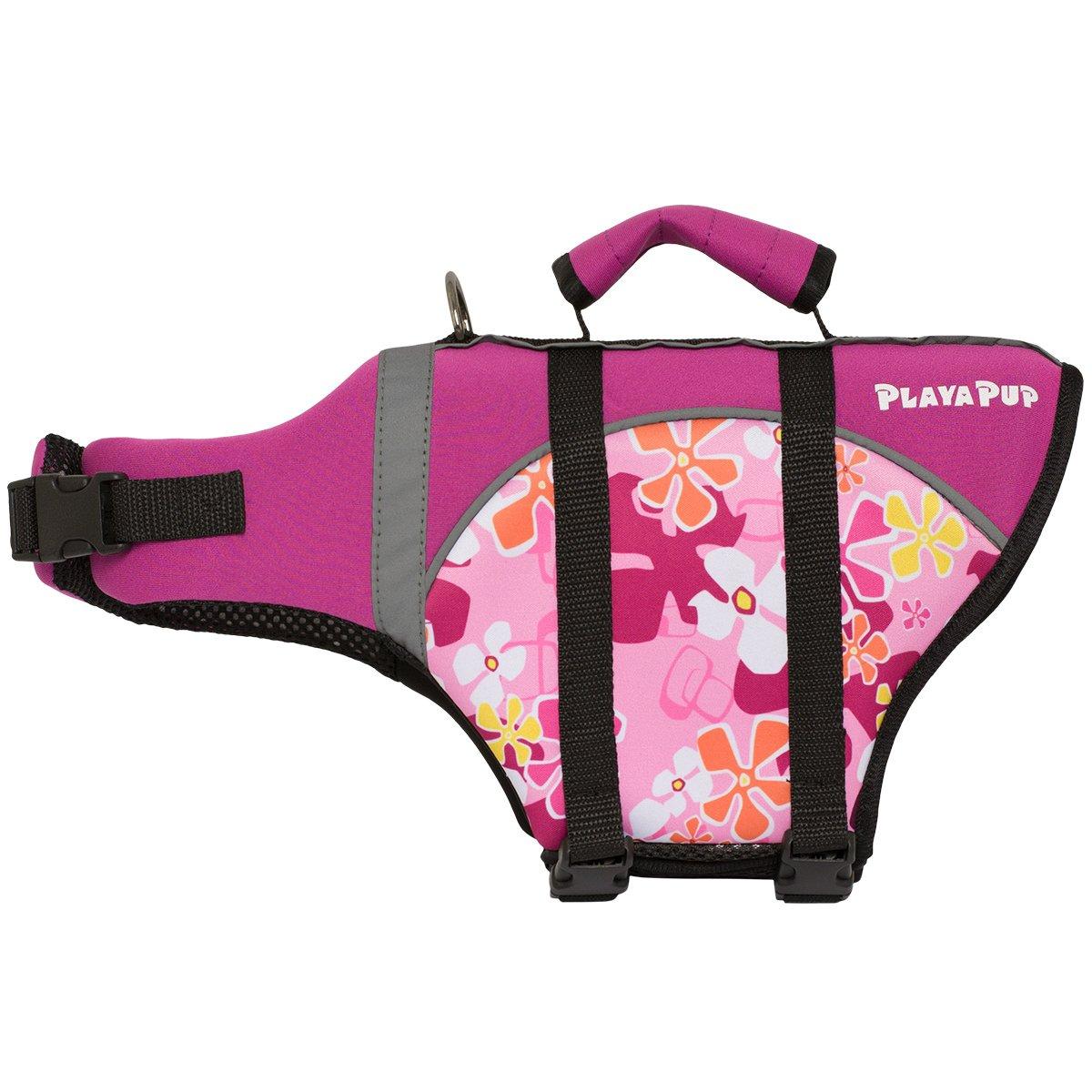 PlayaPup Dog Life Jacket, Misty Pink, Large by PlayaPup