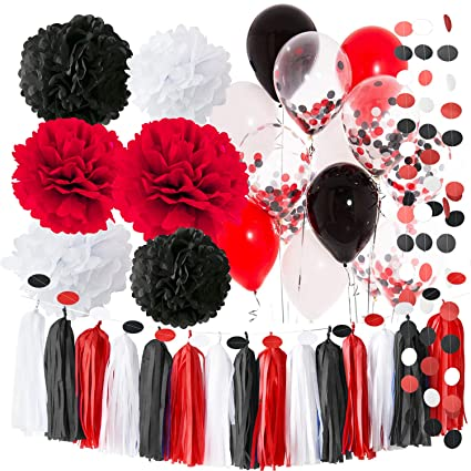 Amazon Com Pirate Party Minnie Mouse Party Supplies White Black Red