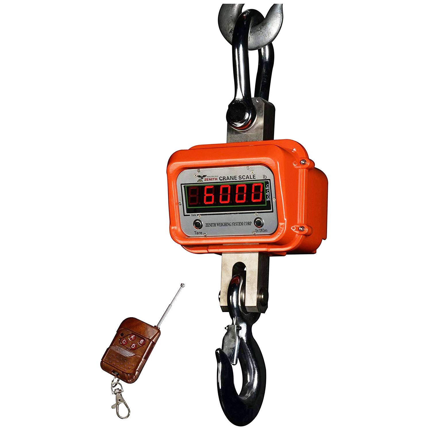 PEC Scales Heavy Duty Digital Crane Scale/Electronic Hanging Scale with Built-in Rechargeable Battery and Alloy Steel Hook (10000lb)