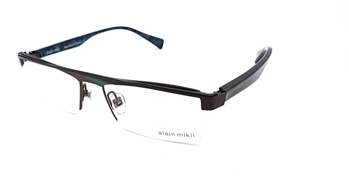 d559a08975da Image Unavailable. Image not available for. Colour  Alain Mikli Rx  Eyeglasses Frames A01119 M00E 53x16 Chocolate   Turquoise France