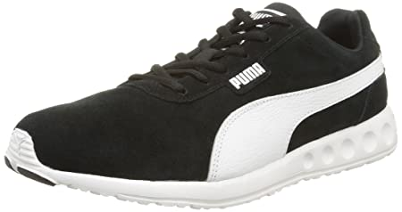 Puma Fallon Suede Running Shoes, Men Black Size: 6.5