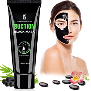 Piero Lorenzo Blackhead Remover Mask, Blackhead Peel Off Mask, Face Mask, Blackhead Mask, Black Mask Deep Cleaning Facial Mask for Face Nose 60g