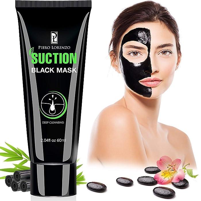 Piero Lorenzo Blackhead Remover Mask, Blackhead Peel Off Mask, Face Mask, Blackhead Mask, Black Mask Deep Cleaning Facial Mask for Face Nose 60g