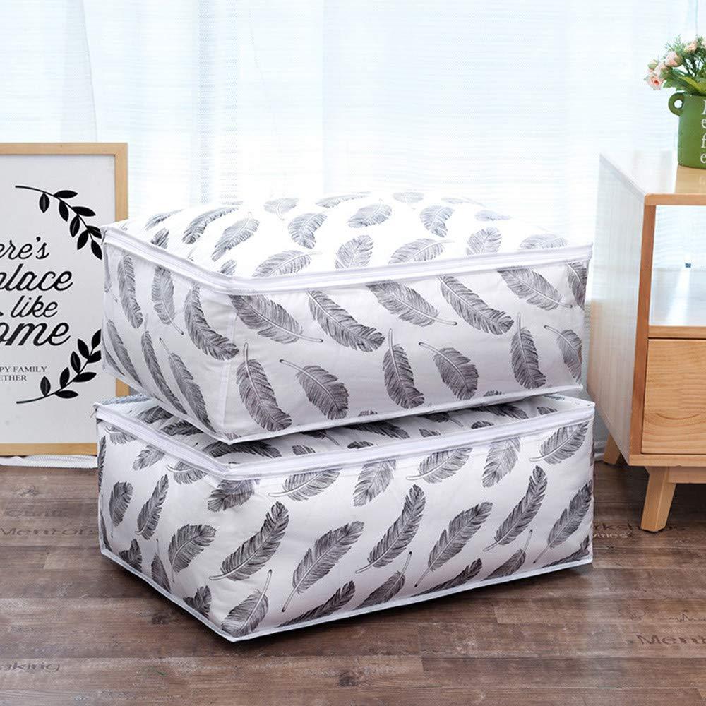 TianranRT Faltbar Lagerung Tasche Kleidung Decke Steppdecke Schrank Pullover Organizer Box Beutel A