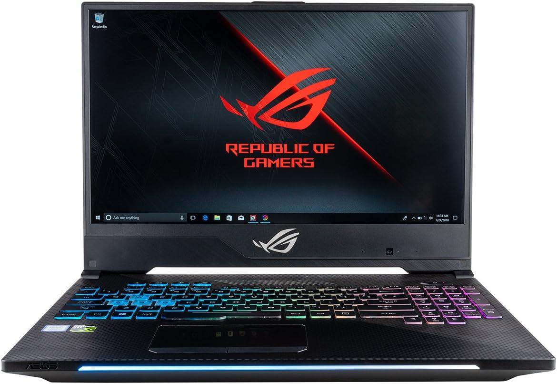 "ASUS ROG Strix Scar II GL504GS Gaming Laptop (Intel i7-8750H, 16GB RAM, 512GB NVMe SSD, NVIDIA GeForce GTX 1070 8GB, 15.6"" Full HD 144Hz IPS Slim Bezel, RGB Keyboard, Windows 10) Gamers Notebook"