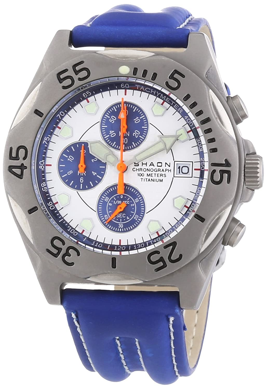 Shaon Herren-Armbanduhr Chronograph Quarz 43-6906-19
