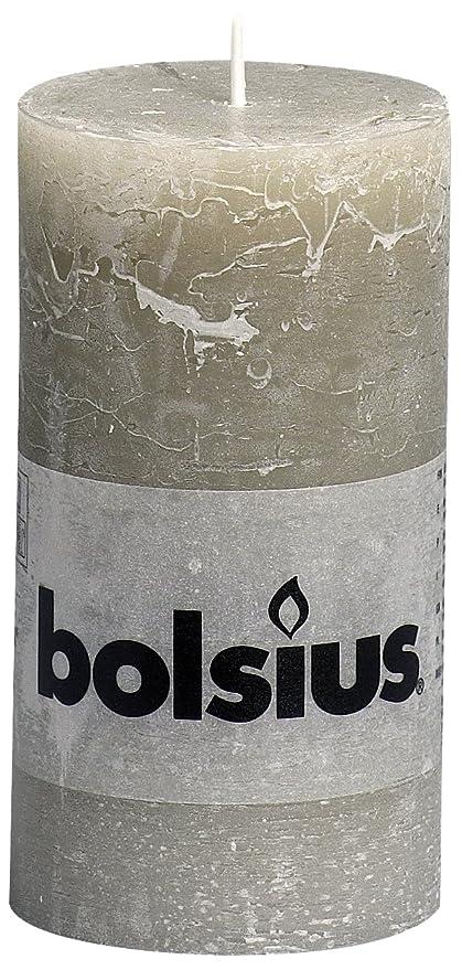 Gastronomie Dekorationen oder Zuhause rustikal 6x Rustic Rustik Stumpenkerzen 130//68 mm von Bolsius in schokobraun schokoladenbraun f/ür Hochzeiten