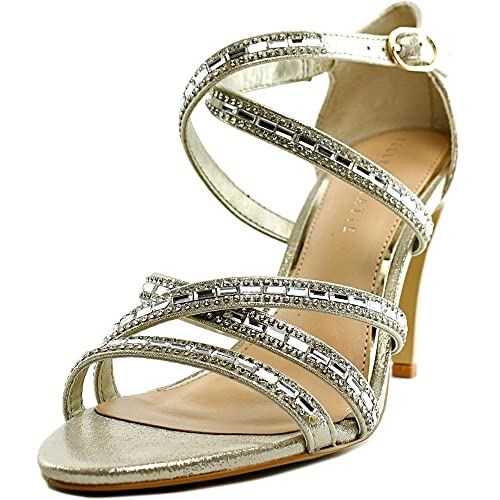 Kelly \u0026 Katie Reekie Women US 7.5 Gold Sandals Amazon.ca