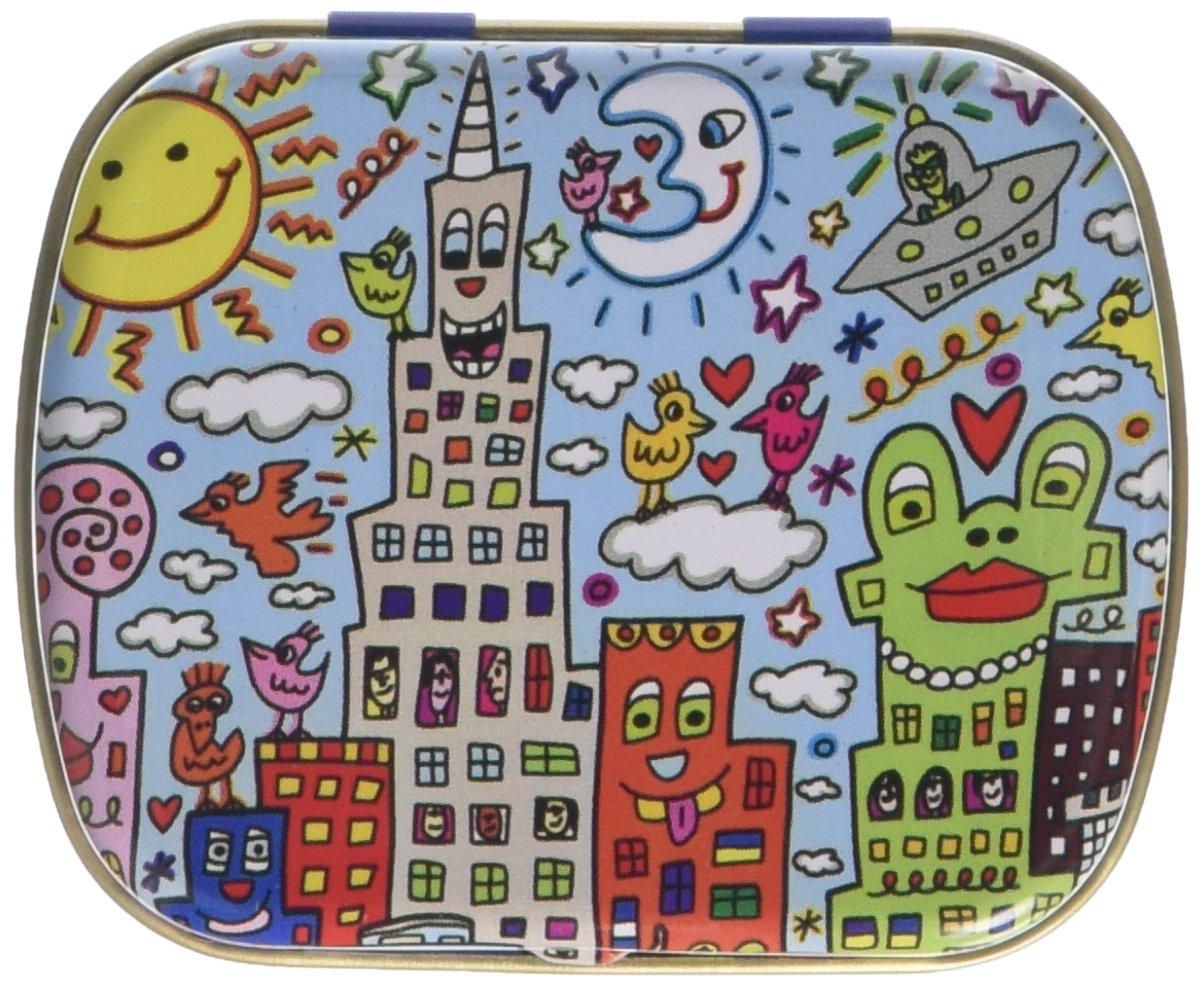 Fridolin 18646 James Rizzi New York Mini My City-Caja de Metal, 6,3 x 5,2 x 1,8 cm