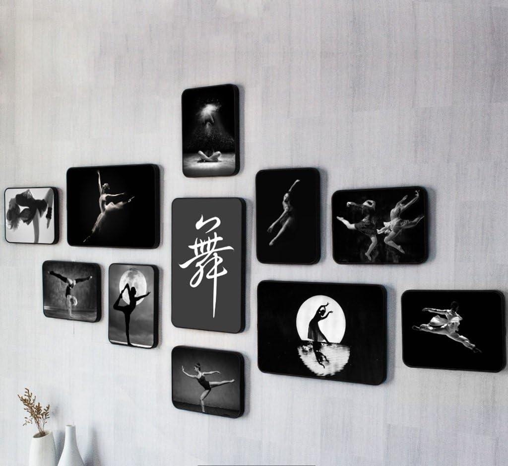 Farbe : A Home @ Wall Bilderrahmen Tanz Foto Kombination Dekorative Wandbehang Ballett Fotowand Modern Dance Dance Training Rahmen Kreativ