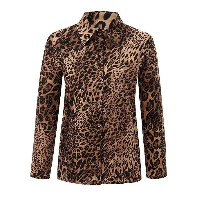 ❤ Blusa de Invierno Mujer Leopardo, Mujeres Diario Casual Estampado Leopardo Top T Shirt Damas Sueltas de Manga Larga Top Blusa Absolute: Amazon.es: Ropa ...