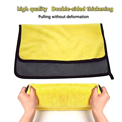 Upinva Car wash Towel Water Absorption Quick-Drying Microfiber Cloth High Density Material car Cleaning Towel Car wash craftsman's Attention Car wash Housekeeping Cleaning Wipe Off (15X18in): Automotive