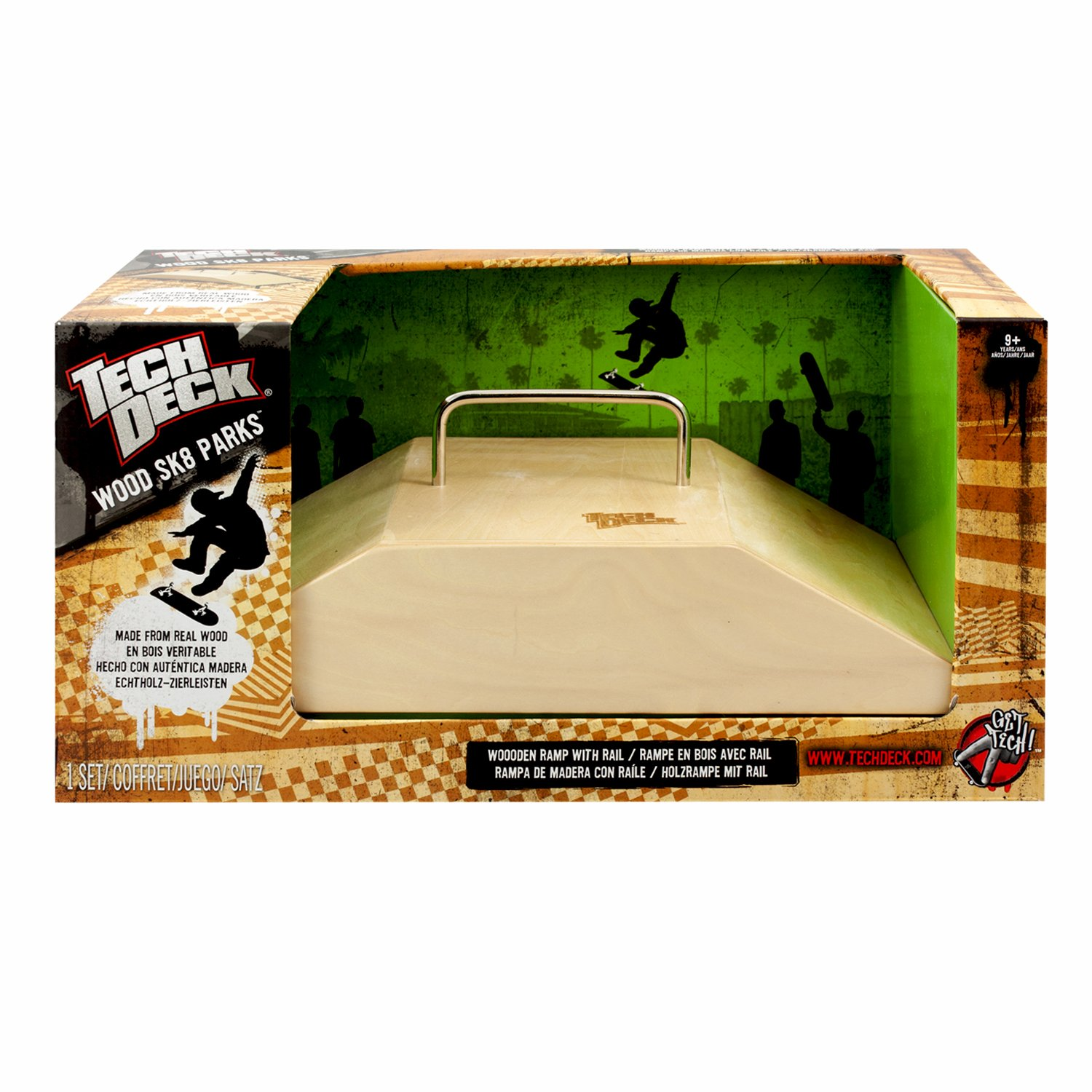 Tech Deck Wood Ramps - Fun Box Rail