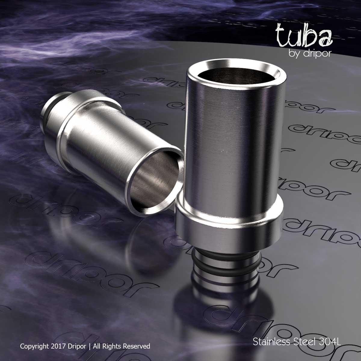Tuba Acier Inoxydable 304L Drip Tip 510 Connexion Embouchure de Dripor