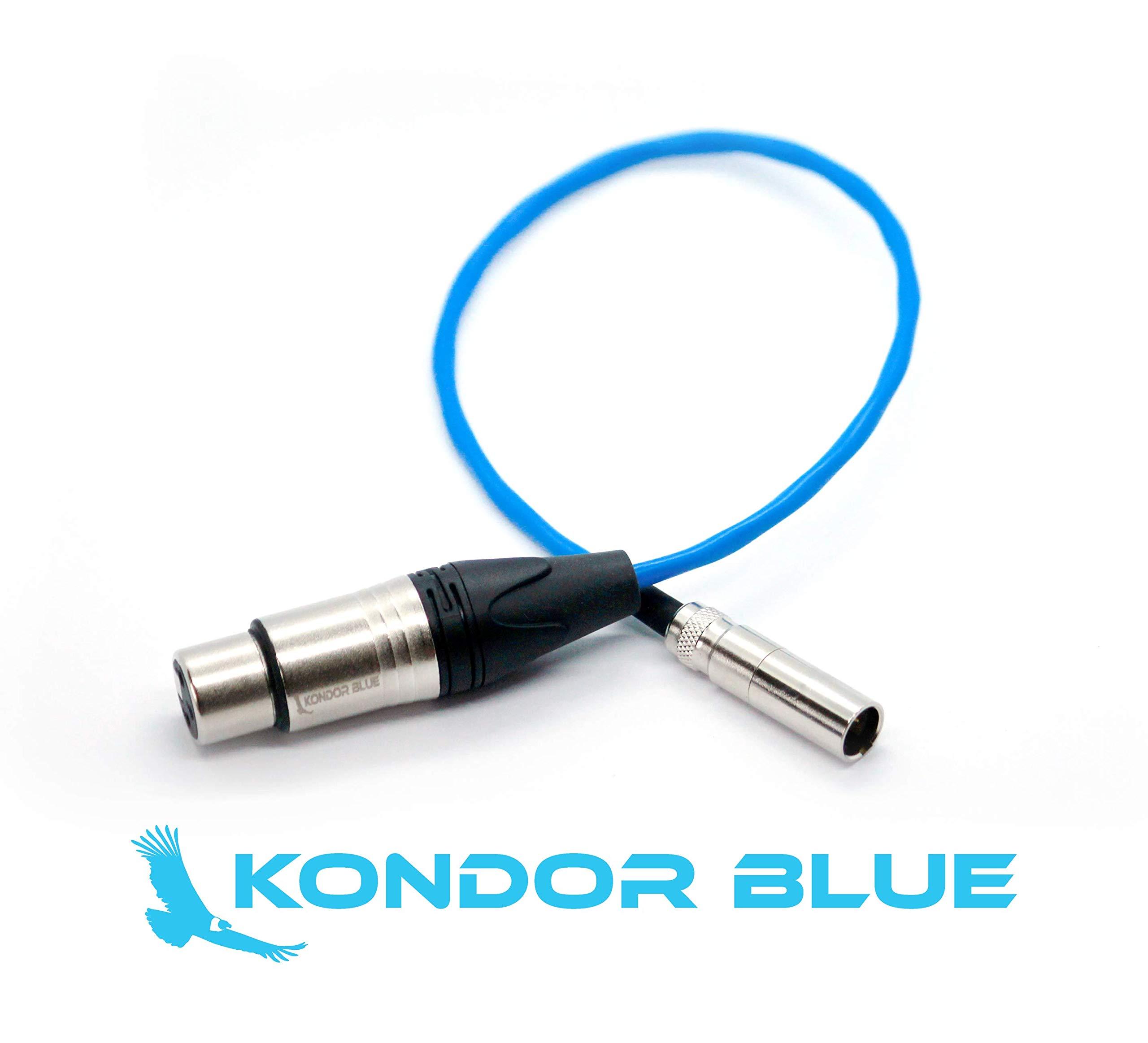 KONDOR BLUE 14'' Mini XLR Male to XLR Female Audio Cable BMPCC 4K Camera Video Assist 4K Sharp 8K. 3 Pin XLR Adapter Microphones Mixers. (1 Pack)
