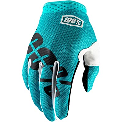 100% ITRACK 2017 Men's Leather/Textile Off-Road Motorcycle Gloves - Teal / X-Large