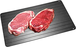 Defrosting Tray, High Density Aviation Aluminum Thawing Plate for Faster Defrosting Frozen Food, Quicker Safer Way to Defrost Meat Pork Beef Fish ,No Chemicals, No Microwave   Premium Quality