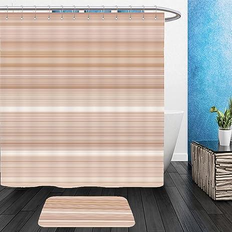 Vanfan Bathroom 2?Suits 1 Shower Curtains U0026 ?1 Floor Mats Digital Tiles  Design