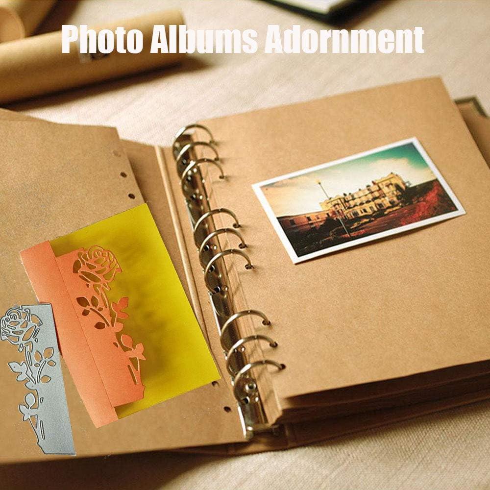 tarjetas de invitaci/ón Xiaoyao24 /álbumes de recortes Plantilla de troquelado para tarjetas de felicitaci/ón de metal con relieve para sobres de invitaci/ón decoraci/ón de scrapbooking