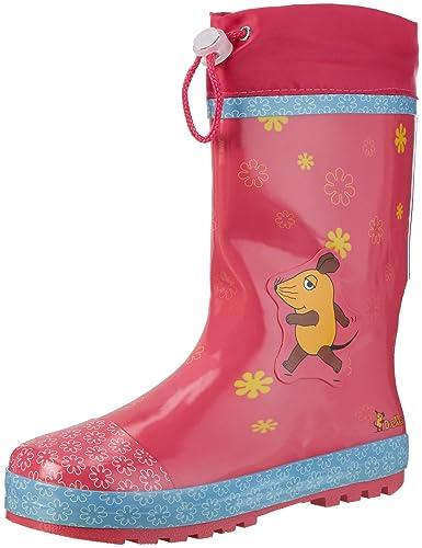wholesale dealer cf05a f3021 Playshoes Mädchen Regenstiefel Blümchen, die Sendung mit der Maus  Gummistiefel